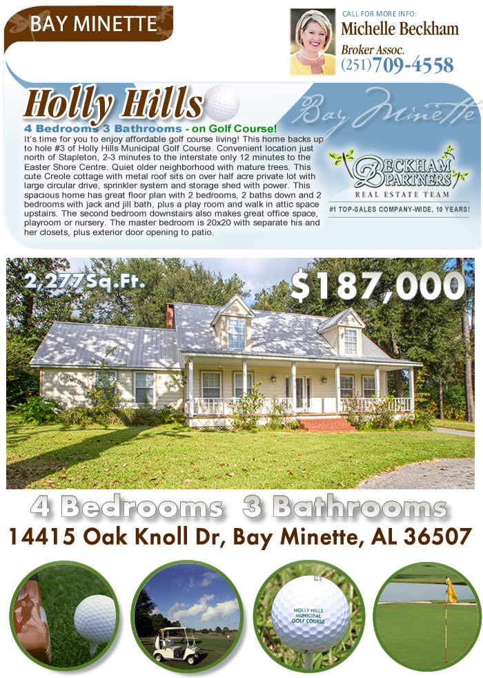 Holly Hills Bay Minette Homes For Sale Bay Minette Al Golf Course