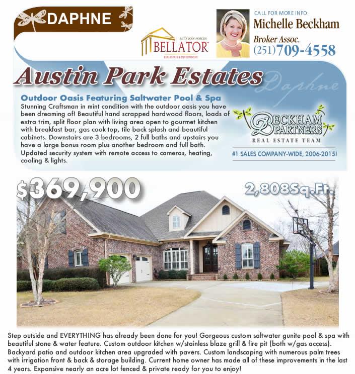 Austin Park, Daphne, AL Home for Sale