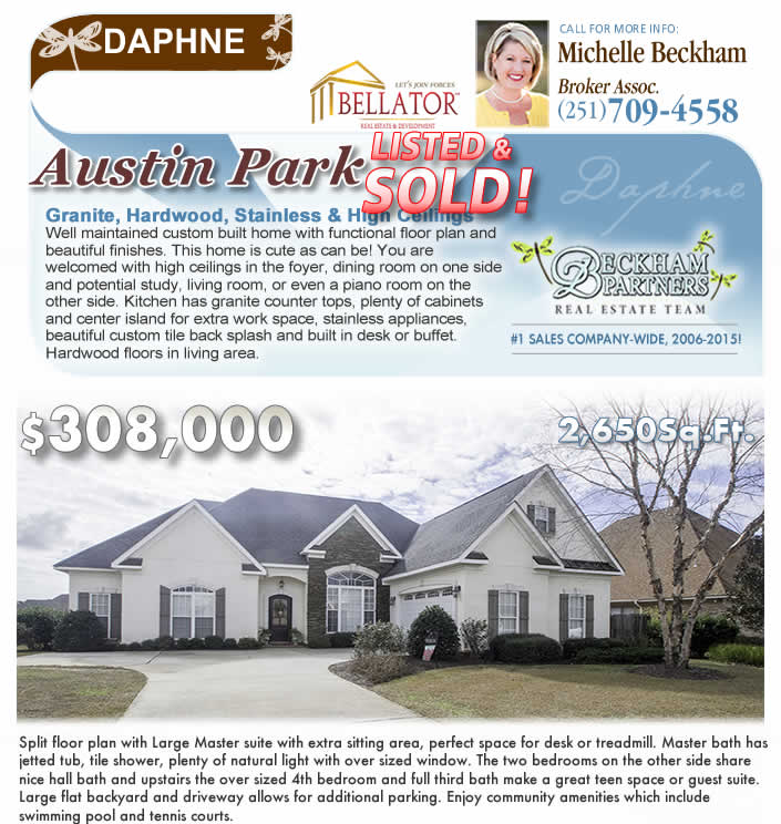Austin Park, Daphne, AL Home for Sale