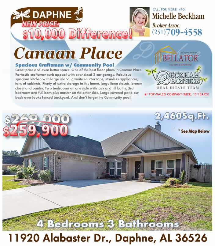 Canaan Place, Daphne AL Home for Sale