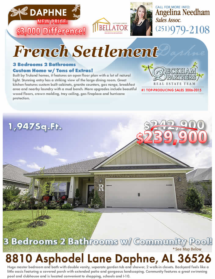 French Settlement, Daphne AL Homes for Sale