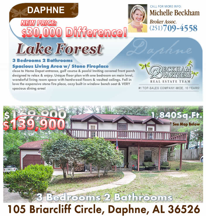 Lake Forest, Daphne AL Homes for Sale