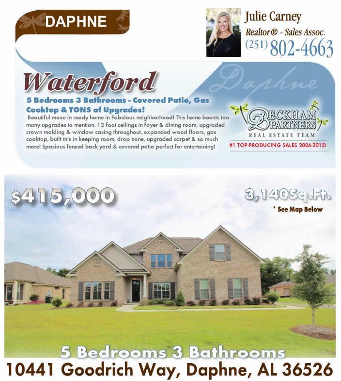 Daphne Alabama: Waterford, Daphne AL Home For Sale