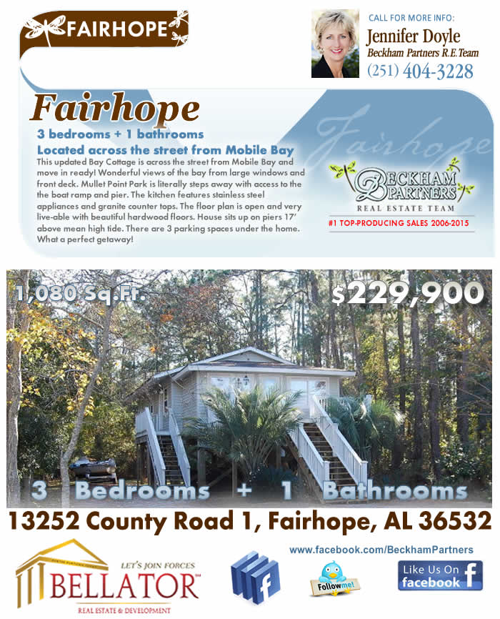 Fairhope Bay House for Sale