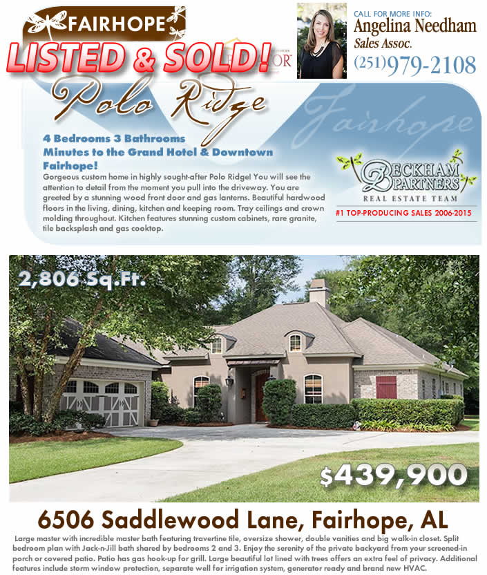 Polo Ridge, Fairhope, AL Home for Sale - Eastern Shore of Baldwin County, Real Estate
