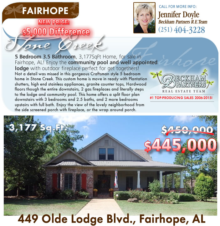 Stone Creek Fairhope Homes For Sale