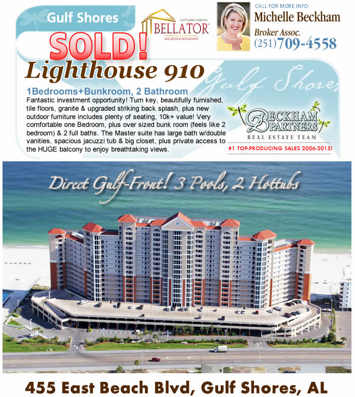 Gulf Shores - Lighthouse Beach Condo for Sale