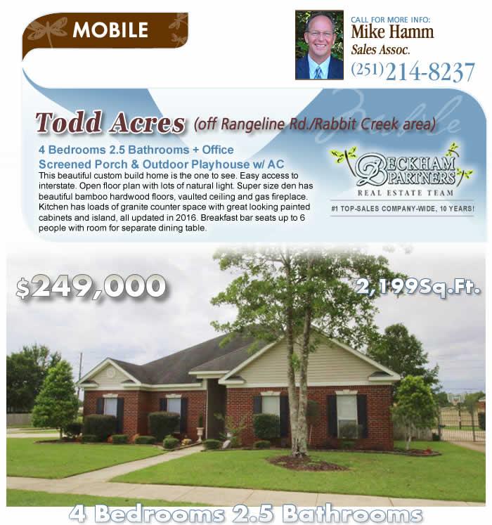 Mobile, AL Homes for Sale - Todd Acres off of Rangeline Rd ...
