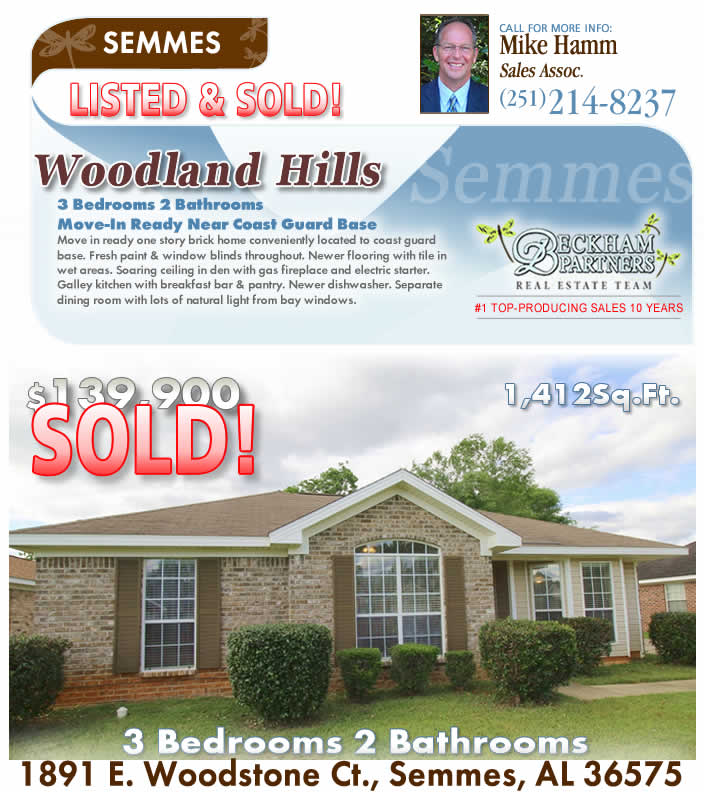 West Mobile-area - Semmes Real Estate for Sale