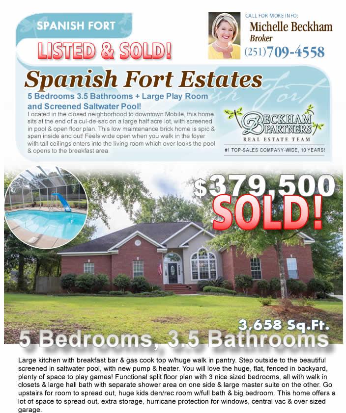 Spanish Fort Estates - Spanish Fort AL Homes for Sale, marketed by Beckham Partners Team, Bellator