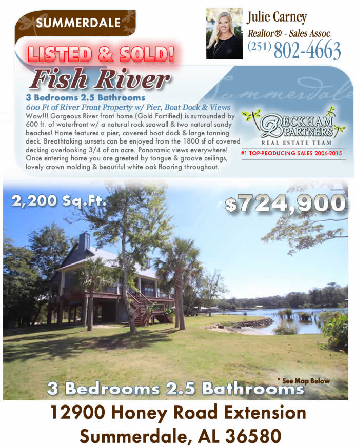 Fish River - Fairhope, Alabama Waterfront Homes for Sale
