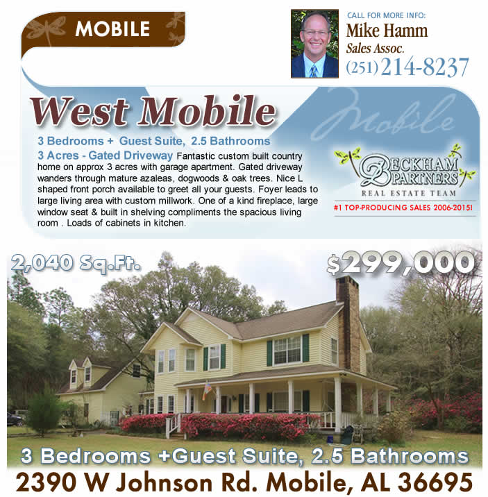 West Mobile, AL Real Estate from Beckham Partners Team, Bellator