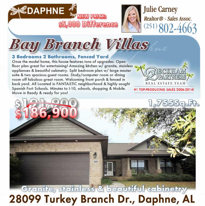 Daphne Alabama: Bay Branch Villas, Daphne AL Homes For Sale By Daphne AL