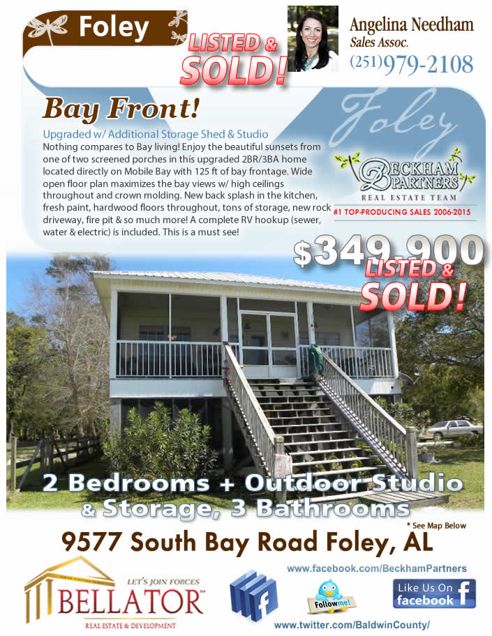Mobile Bayfront Home for Sale
