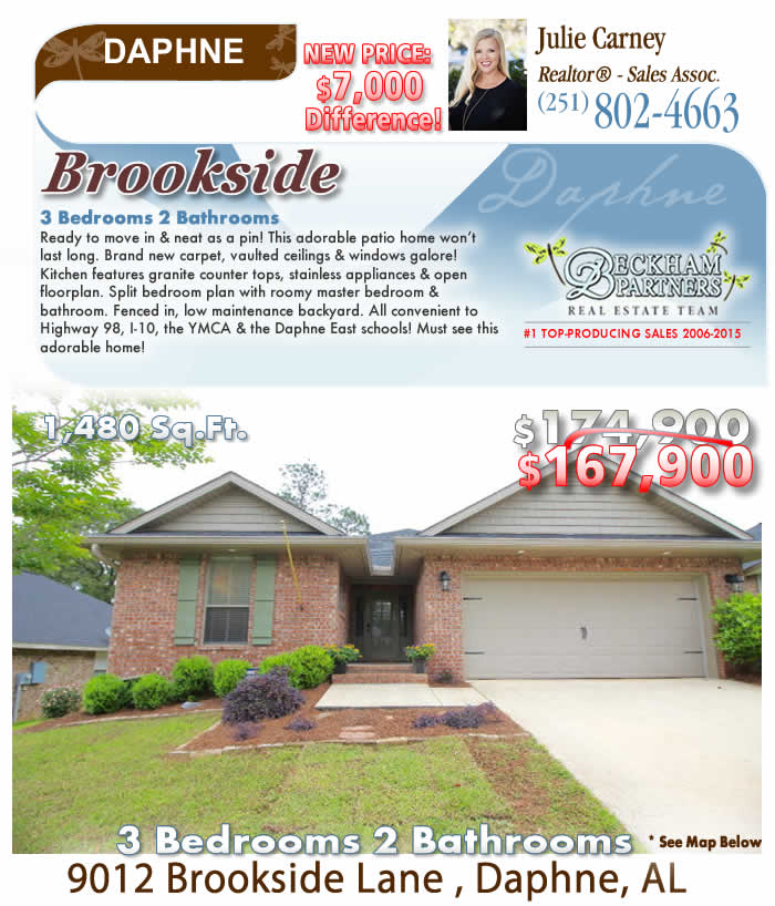 Brookside, Daphne AL Homes for Sale