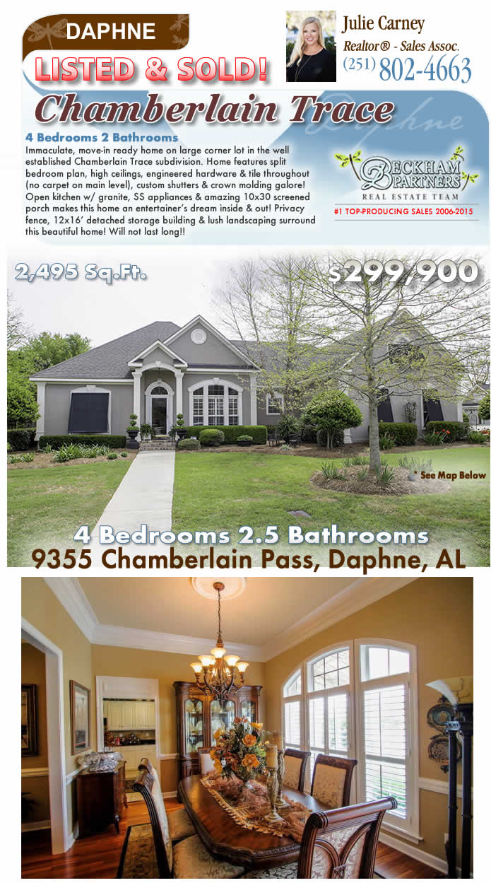 Chamberlain Trace, Daphne Alabama Homes for Sale