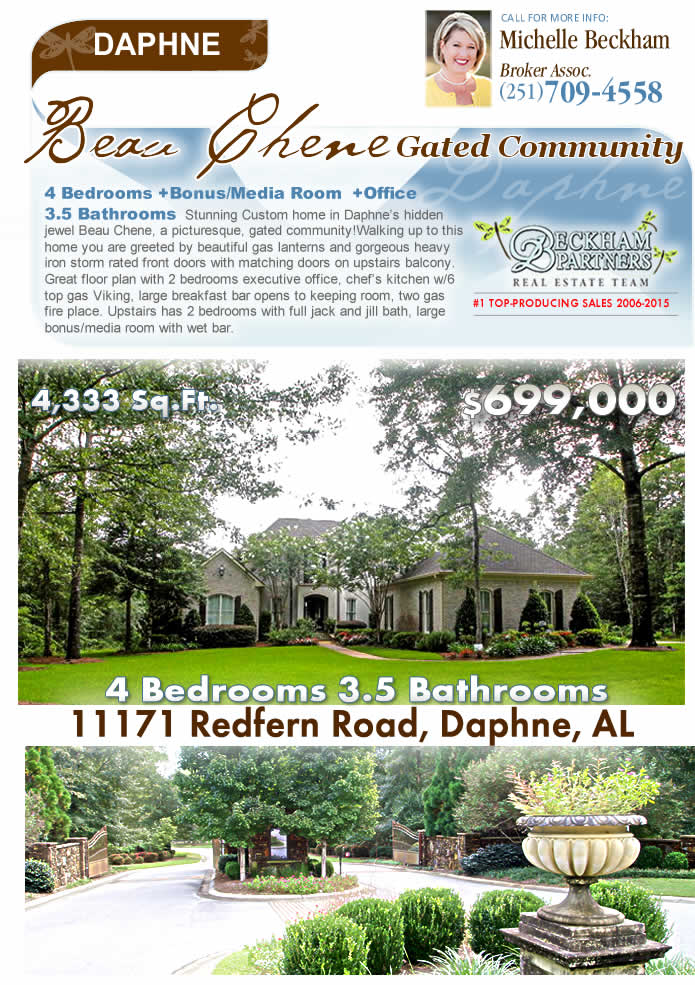 Beau Chene, Daphne Alabama Homes for Sale