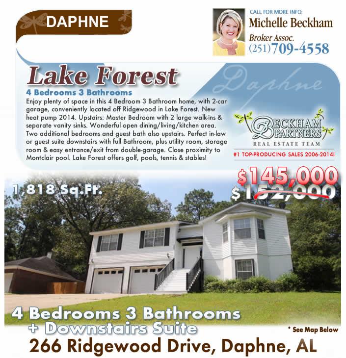 Daphne Alabama: Lake Forest Home For Sale