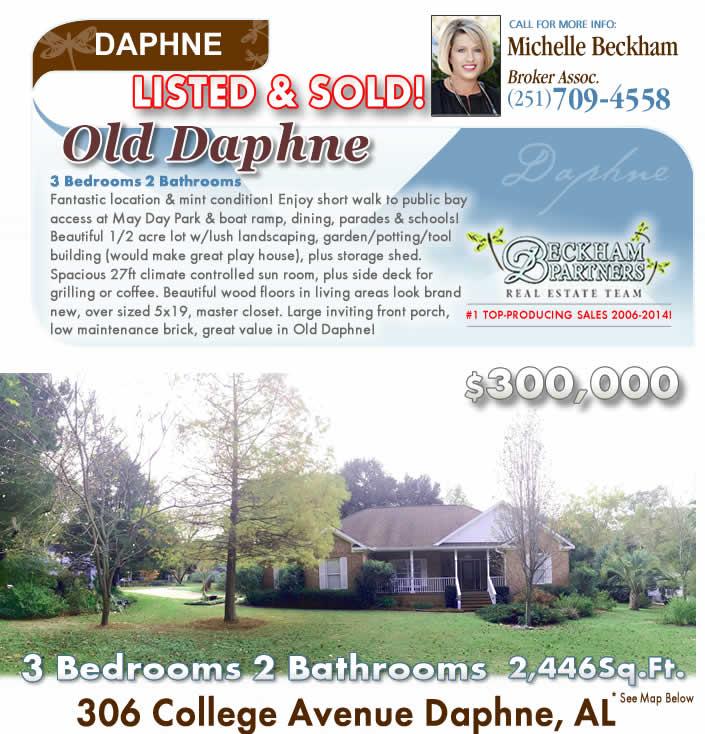 Daphne Alabama: Old Town Daphne Home For Sale