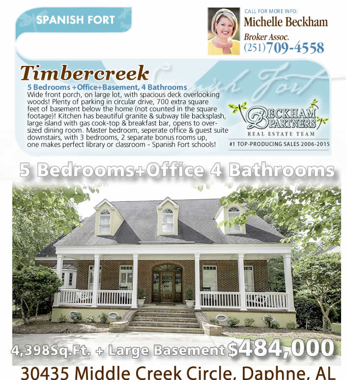 Timber Creek, Spanish Fort - Homes for Sale