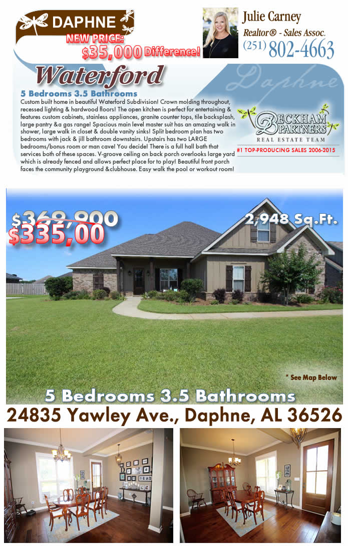 Waterford, Daphne Alabama Homes for Sale